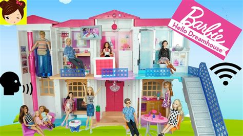 videos de casas de barbie barbie casa inteligente hello dream house con wifi y