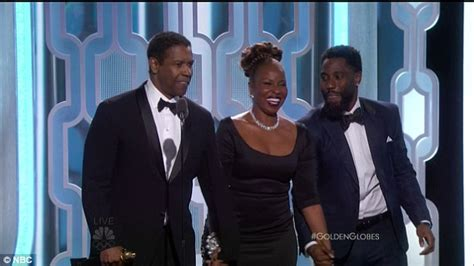 denzel washington and family denzel washington he forgets his glasses at golden globes