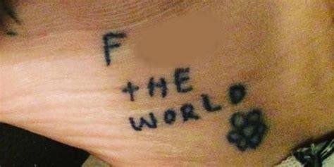 kesha tattoos kesha unveils nsfw f the world on instagram