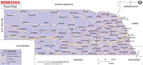 road map of nebraska usa nebraska road map maps