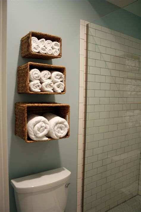 creative storage ideas for small bathrooms creative ideas for bathroom towel storage bathroom utensils