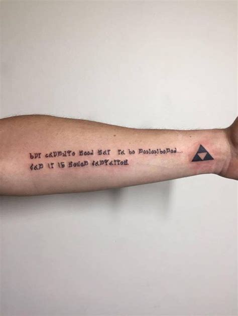 someone got an inspirational zelda tattoo nintendotoday