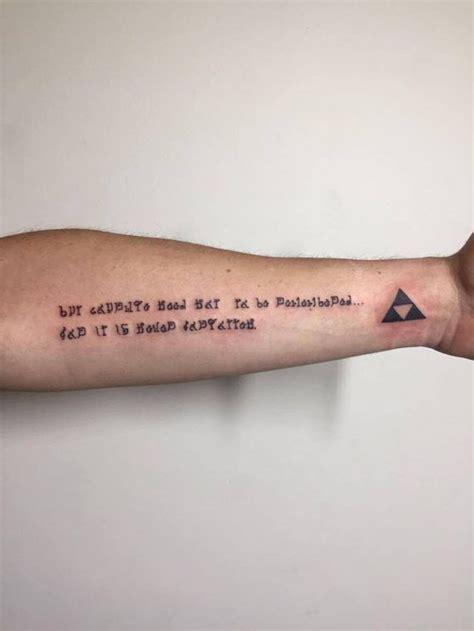 someone got an inspirational zelda tattoo nintendotoday
