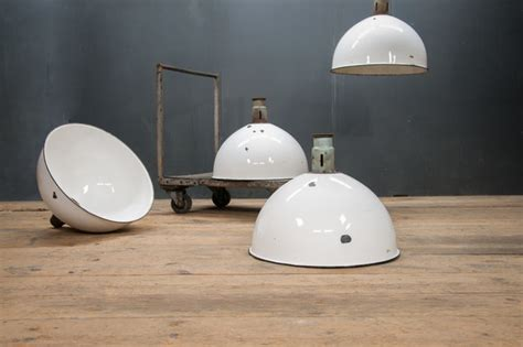 1940s vintage industrial monumental dome pendant hanging