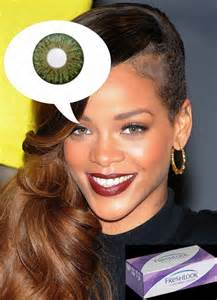 rihanna eye color fashion contact lenses get the same beautiful eye colors
