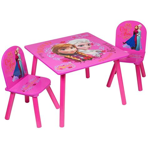 Frozen Table Set by Disney Frozen Pink Set Of 2 Chairs Table Furniture Set