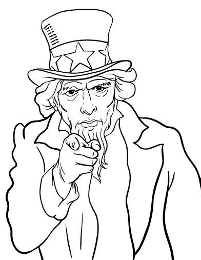 Uncle Sam I Want You Coloring Page | printable uncle sam coloring page free pdf download at