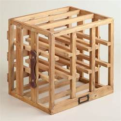 wood crate wine rack world market