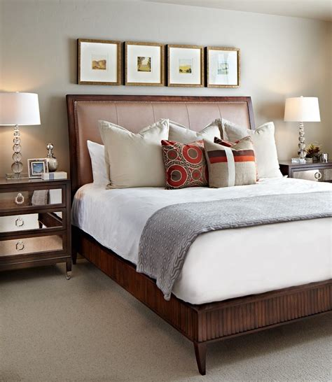 Bedroom Nightstand Decorating Ideas by Bright Mirrored Nightstands Trend Denver Transitional