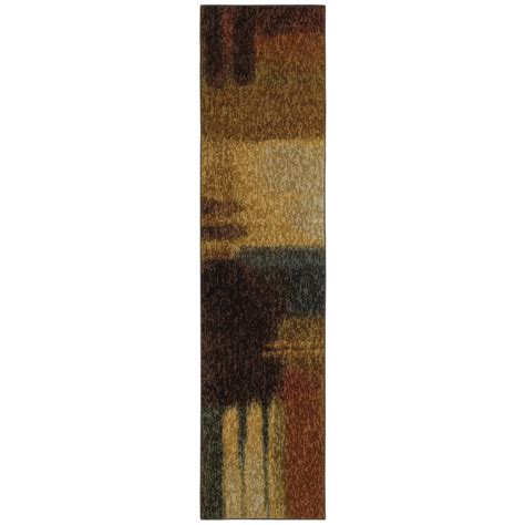 Mohawk Runner Rug Shop Mohawk Home Montage Multicolor Runner Common 2 Ft X 8 Ft Actual 2 Ft X 8 Ft At Lowes