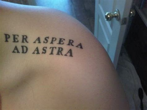 per aspera ad astra tattoo 69 inspirational typography tattoos