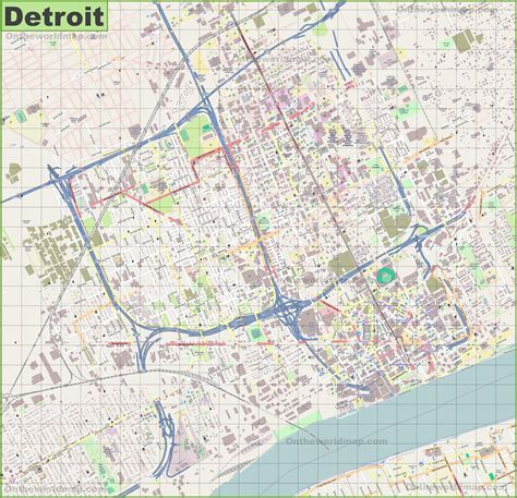 detroit usa map detroit michigan usa map afputra