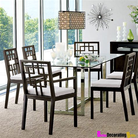 Dining Table With Glass Top Designs Modern Dining Room Furniture Design Amaza Design