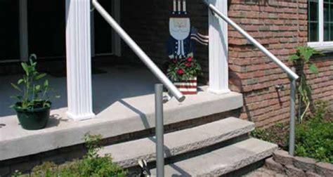 outdoor banister outdoor aluminum handrail kee safety canada