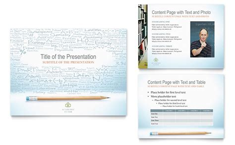 Academic Tutor School Powerpoint Presentation Academic Presentation Powerpoint Template