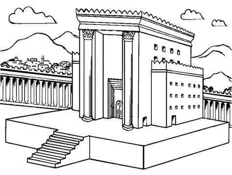 at the temple coloring pages solomon s temple coloring page dcc kindergarten