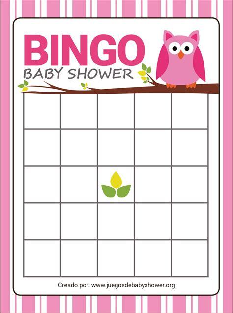 Bingo Baby Shower by Bingo Para Baby Shower Juegos De Baby Shower