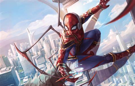 spiderman iron suit art laptop hd hd