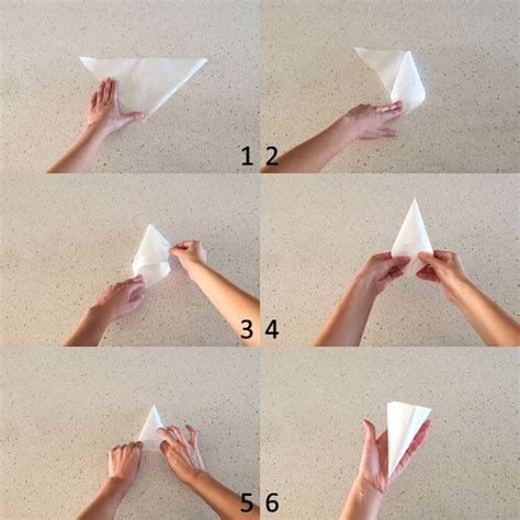 Make A Piping Bag Out Of Baking Paper - easy chocolate garnishes