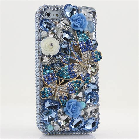 Op4515 For Iphone 6 6s Luxury Flower Bling So Kode Bi 2 iphone 6 6s 6s plus 5s bling crystals cover blue