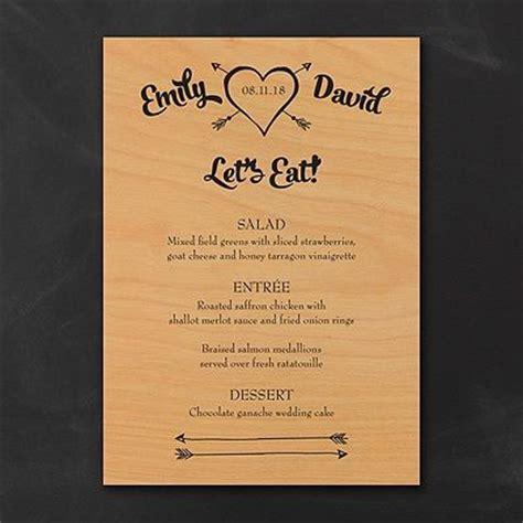 how to make a menu card tribute to wood menu cards your wedding menu printed