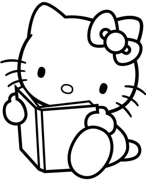 hello kitty coloring pages only free coloring pages of lo kitty co