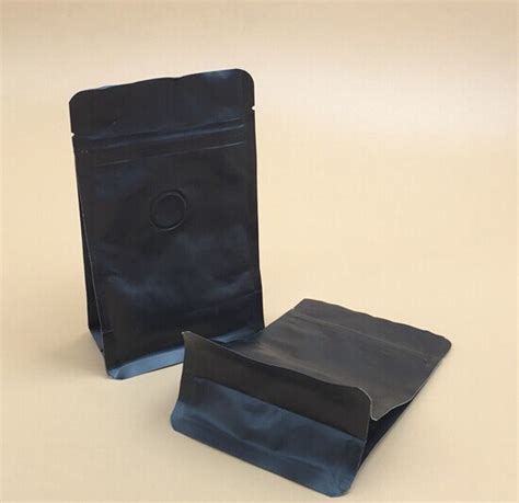 Standing Pouch Transparant With Zipper 250 Gr 12 oz custom printing matt black coffee packaging bag with