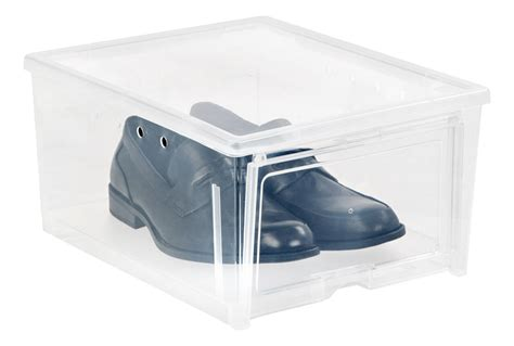 mens shoe storage boxes mens shoe box easy access in shoe boxes