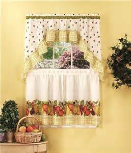 Pear Kitchen Curtains 3 Pc Fruit Kitchen Curtains Tier Swag Set Strawberry Apple Pear Grape Curtains Ebay