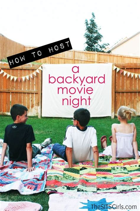 backyard movie night backyard movie night diy party