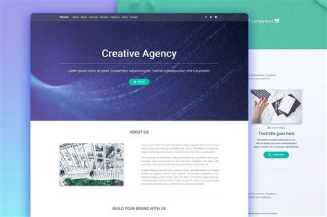 mdb landing page template pro jquery version material