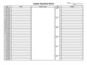 standard work excel template leader standard work template websitein10