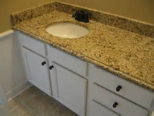 custom built home bathroom recessed sink counter