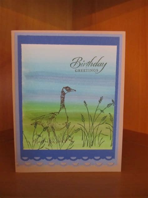 craft card wallpaper copic background water goose birthday card p s i love