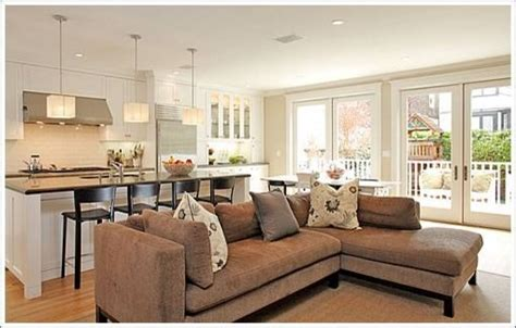 kitchen family room layout ideas kitchen and family room