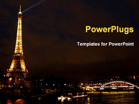 powerpoint template eiffel tower from paris beautiful