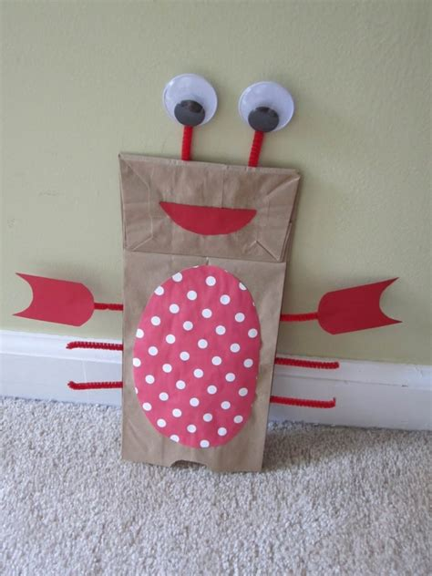 Paper Bag Puppet Craft - 1000 images about paper plate bag crafts on