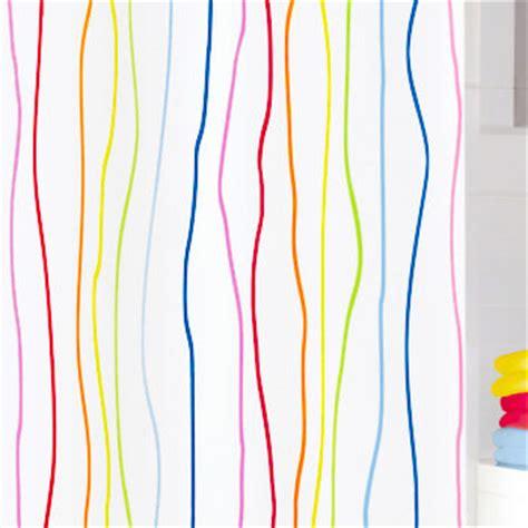 rainbow curtain fabric rainbow fabric shower curtain from vita futura