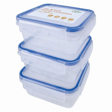Plastic Kitchen Containers by 3 Pack Clip Lock Airtight Kitchen Food Baby Storage Container Plastic 200ml Ebay