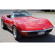 1971 Chevrolet Corvette Convertible  Red Front Angle