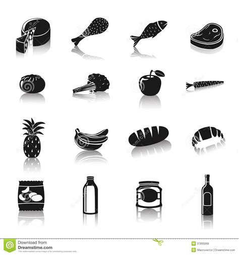 pictogramas alimentos pictograma dos alimentos do supermercado fotos de stock
