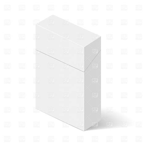 cigarette box template white closed pack of cigarettes blank template vector