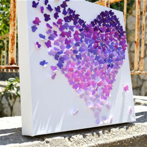 engagement wall decorations purple ombre butterfly 3d from ronandnoy on etsy