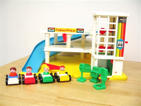 fisher price garage vintage fisher price garage playset by toysofthepast on etsy