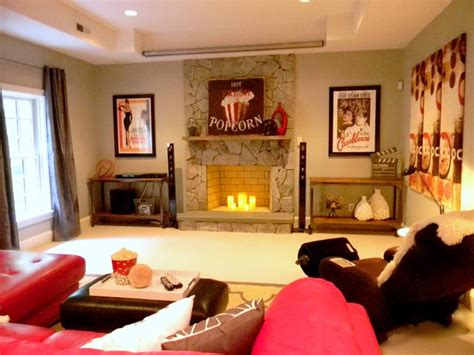 movie themed living room movie themed basement contemporary basement richmond