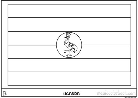 coloring page uganda flag tuvalu flag coloring pages free