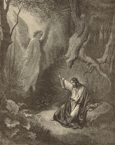 The Agony In The Garden by The Agony In The Garden Drawing By Antique Engravings