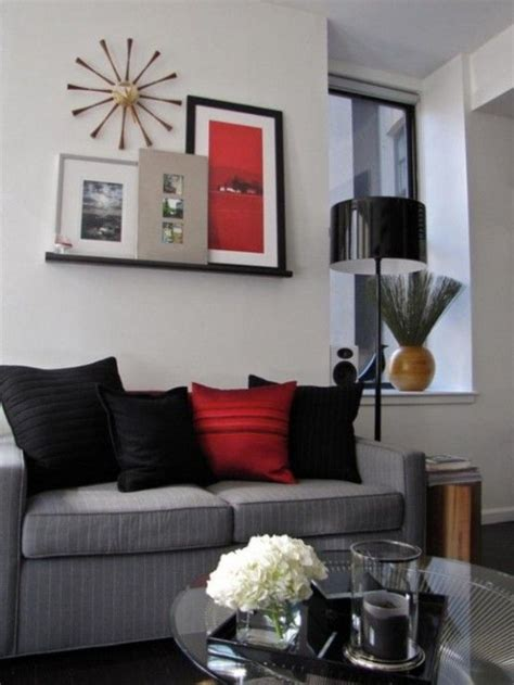 red and gray living room 17 best ideas about black living rooms on pinterest