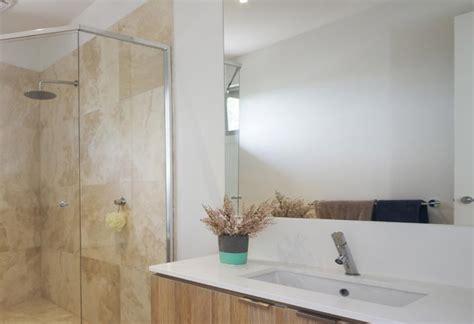 how to hang a frameless bathroom mirror