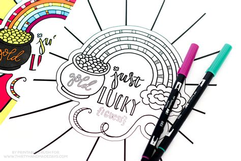 free printable st day coloring pages st s day rainbow coloring page